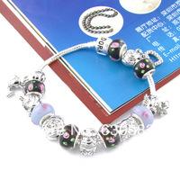 Free shipping 2014The new high quality fashion 925 silver chamilia charm bracelet beads women,