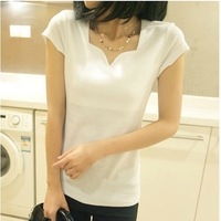 2014 spring plus size clothing clothes summer all-match short-sleeve t-shirt female short-sleeve shirt