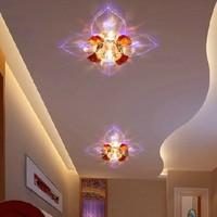 5W modern ceiling lighting led crystal living room hallway lights AC220-240V led lamp for home decoration abajur luminaria