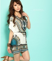 New spring 2014 casual dress women Printed sexy bandage bodycon winter dress fashion girl dress