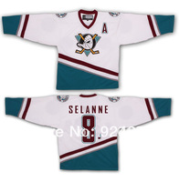 Custom 1998-99 Teemu Selanne #8 Anaheim Mighty Ducks Jerseys - Customized Any Name And Number Swen On (S-4XL)