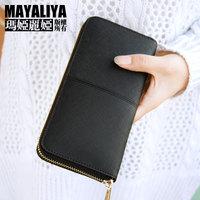 2014 women's genuine leather wallet long zipper design cowhide wallet dinner fashion women wallet