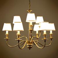 Quality american classic modern 9 dos santos pure copper pendant light