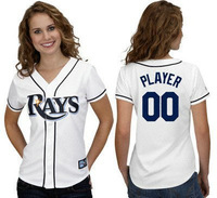 Wholesale custom made women baseball jerseys Rays personalized custom Your Name Number,mix order ,sewn logos