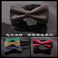 885 male casual bow tie up leather bow tie red green coffee purple bow tie male bow tie