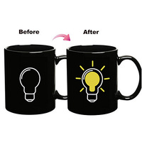 Magic Color Changing Bulb Pattern Ceramic Cup Mug