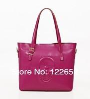 2014 new tide female bag oil wax cow leather handbag Europe fashional skull shoulder bag free shipping B-91