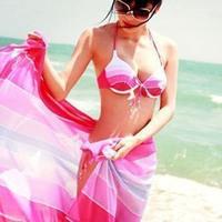 free shipping Women's swimwear piece set triangle bikini steel swimwear ultralarge mantillas push up sexy fashion