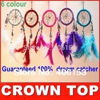 HOT!!! Guaranteed 100% beautiful dream catcher witn  Small shells 1 piece/lot ,6 colours can choose ,   Free shipping