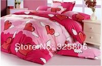 PROMOTION!!! 2014 household american applique flower print 100% cotton 4sets quilt cover sets hot sale,CL-001