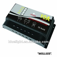 WELLSEE Free freight WS-C2415 New 10A 12V/24V Solar charge controller regulator