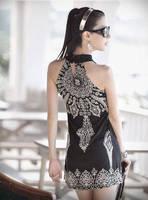 Free Shipping!floral prints spaghetti strap dress HOT 2014 New Mini dress Falbala high Waist skirt novelty White Black #4071