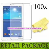 cell mobile phone screen protector,For Samsung Galaxy Tab 3 Lite T110 T111,100pcs/lot film lcd,high quality,DHL free shipping