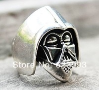 Wholesale 10pcs lot Promotion Star Wars Darth Vader figure rings fashion jewelry funny novelty punk gothic gifts for men women