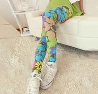 fashion spring 2014 legings floral american apparel flower leggings free shipping girl charming pants shorts women wholesale