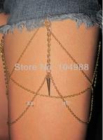 FREE SHIPPING 2014 STYLE BY-194  Women Fashion Gold Chain Jewelry Layers Leg Chain Jewelry