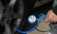 FREE SHIPMENT K507 High Quality Auto Air Inflator Gun Car motorcycle Bicycle Inflatable Pump Tire Pressure Gauge