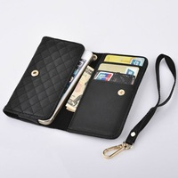 10 pieces/lot New Arrive Luxury Deluxe Wallet Leather Bag Cover Case For Samsung Galaxy S3 S4 S5 I9300 i9500 With stand