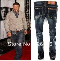 Top-Quality pants Free Shipping 2014 100% Cotton brand male pants Men's fashion jeans pants  denim trousers