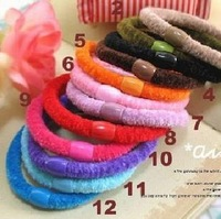 Free Shipping Candy color Hair Elastic band Cotton Seamless headband hair ties rope Ponytail Holer hair accessories