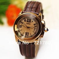 Fashion Julius Luxury Brand Women Dress Watch Korea Calender Genuine Leather Strap 3ATM Waterproof Quartz Watch,High Quality