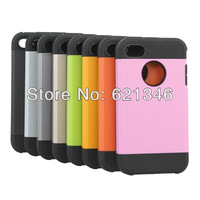 2014 Newest High Quanlity Cool Slim Armor II Design Back Case Cover For iPhone 4 4S Free Shipping