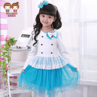 Baby female child long-sleeve one-piece dress  flower girl princess dress spring 2014