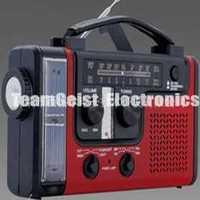 multifunction Emergency Solar Hand-Crank Dynamo radio, Emergency Flashlight + thermometer + mobile charger + SW /AM /FM Black