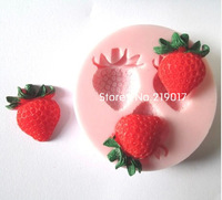 Free Shipping strawberry mold cake mold silicone baking tools kitchen accessories decorations for cakes Fondant LM14017