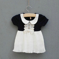 2014 new fashion summer hot baby girl dress cute cotton short sleeve baby dresses