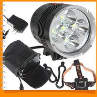 Securitylng 6000 Lumen 5 x CREE XML T6 LED Bicycle Head Light Bike Lamp & Headlamp Headlight + 8.4V 8000 Battery Pack