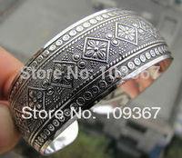 Retro Carving Patterns Tibetan Silver Women Men Adjustable Cuff Bracelet Bangle wholesale 10pcs < 5 Pair Antique Bracelets