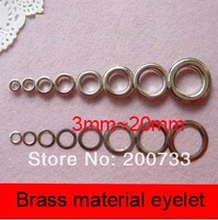 Free shipping brass material 2000#(20mm) eyelet with washer 100sets/lot