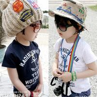 2014 summer navy style boys clothing girls clothing baby child short-sleeve T-shirt tx-0765