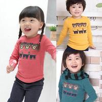 2014 spring and autumn clothing bear boys girls clothing baby long-sleeve T-shirt tx-0045 basic shirt