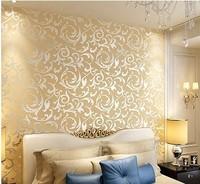 Fashion tv background wallpaper pvc wallpaper gold foil wallpaper 3d wallpaper wall paper roll papel de parede 5.3m2