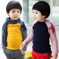 2014 spring five-pointed star boys clothing baby child long-sleeve T-shirt tx-2621 basic shirt