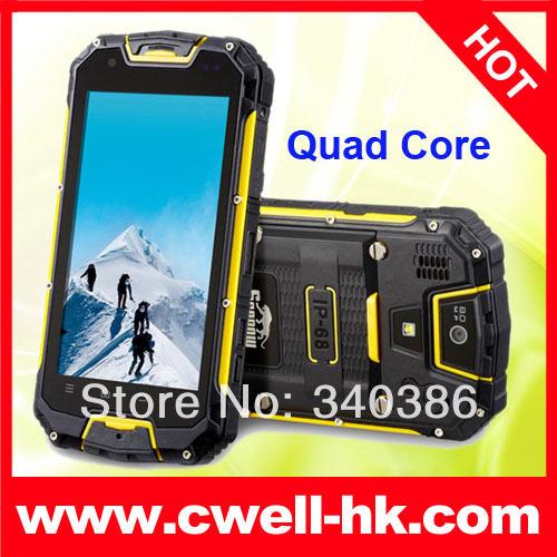 "original Snopow M8 M8S M9 IP68 rugged Waterproof phone Android PTT twoway Radio Walkie talkie 4.5"" MTK6589 quad core Runbo X6(China (Mainland))"