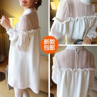 Maternity one-piece dress fashion 2014 top maternity clothing spring summer chiffon maternity dress
