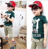 Korean version of the spot boy T-shirt with multi-colored children's 2014 children's cartoon
