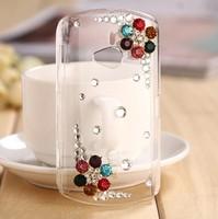 For Sony Ericsson WT19i diamond mobile phone case - Diamond flower with five petals