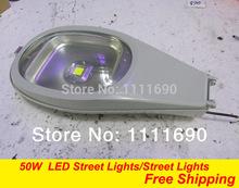 outdoor lighting high brightness led street lights 50w warm white cool white AC:85-265V DC:10-28V free shipping(China (Mainland))