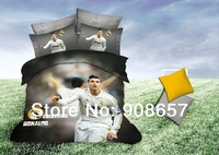 2014 new super soccer portugal Europe football Cristiano Ronaldo Printed bedding cotton queen full duvet covers bedclothes sets