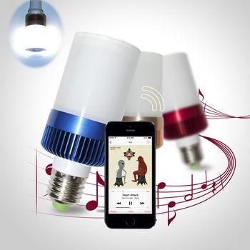 Novelty Wireless LED Lamp Bluetooth Bulbs Audio Speaker E27 Music Playing Player