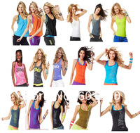 woman vest dance top tank Racerback 1pcs