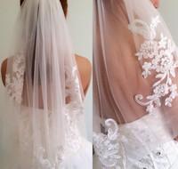 TBV6 New arrival diamond 2014 veil short design single  wedding veil bridal waist-length
