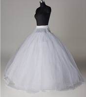 TBP1 big  three layers bridal wedding quinceanera dress petticoat with appliqued