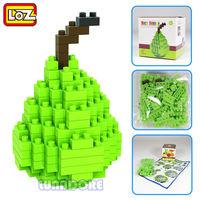 Pear Green Fruit LOZ Diamond Nano Mini Building Blocks Enlighten Bricks Toy