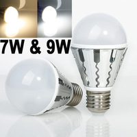 2PCS 7w/9w LED SMD Bulb Spot Light  E27 Cool White/Warm White dimmable  AC85-265V lamp Lighting Epistar