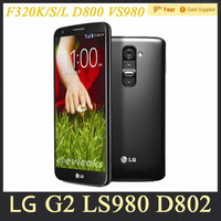 "Original LG G2 F320 D802 D800 Unlocked Mobile Phone Quad Core Android 4.2 13MP 5.2"" IPS 32GB ROM Refurbished Phone Free Shipping"